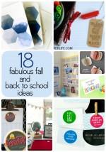 18 Fabulous Fall & Back to School Ideas!