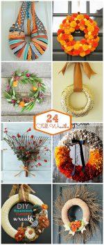 24 DIY Fall Wreaths
