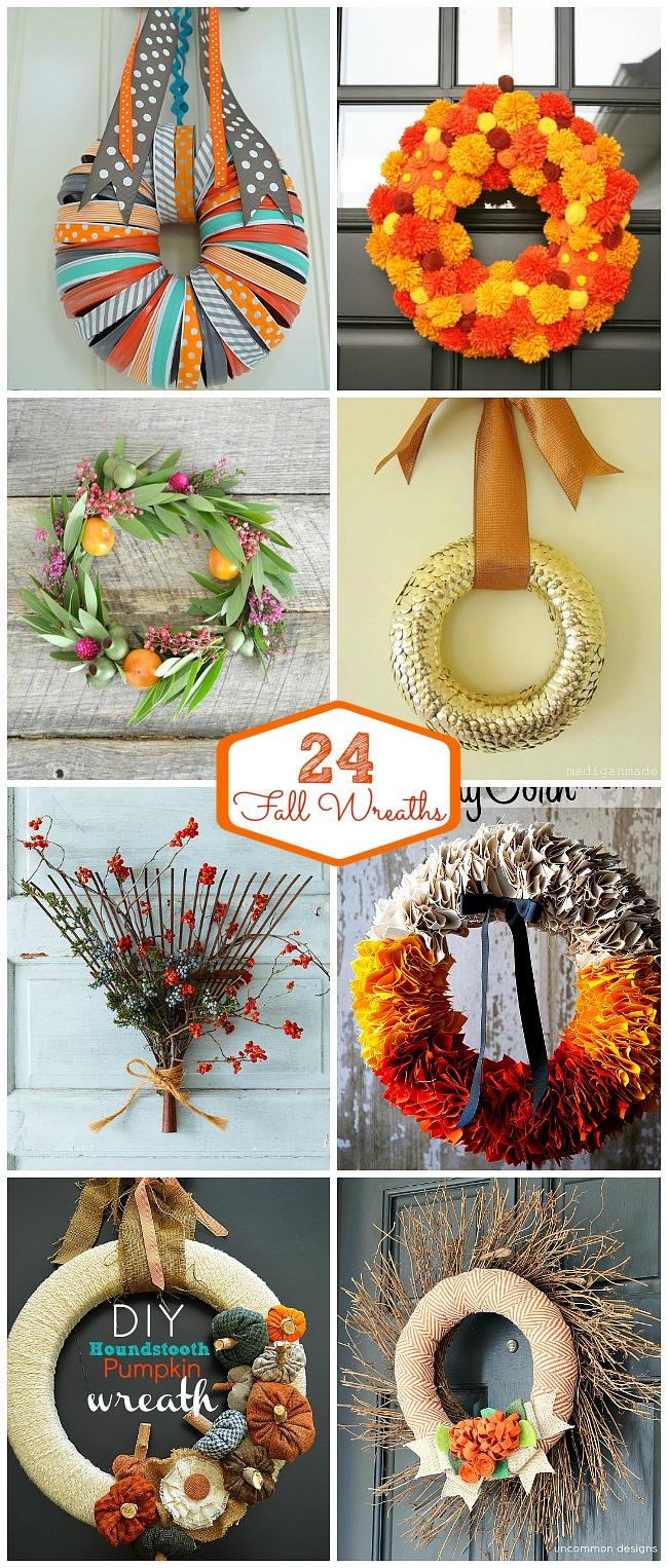 24 fall wreath ideas at tatertots and jello