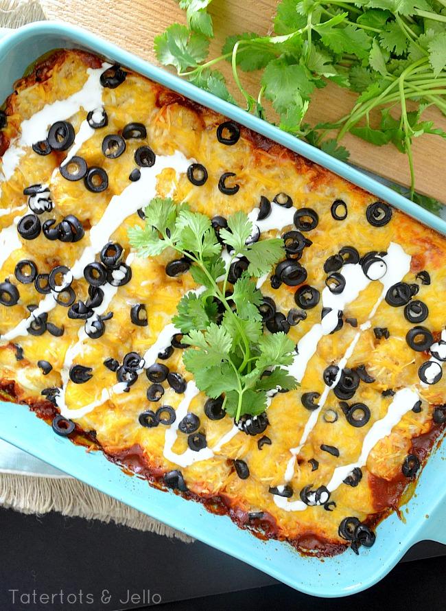 Southwestern Tatertots Casserole recipe from tatertots and jello