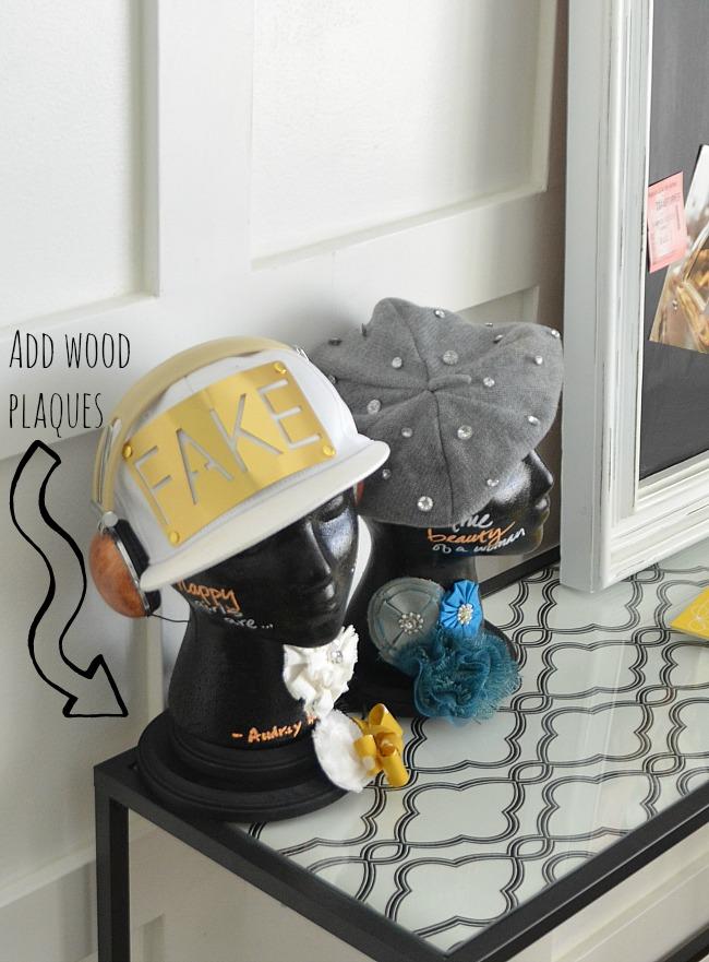 add wood plaques