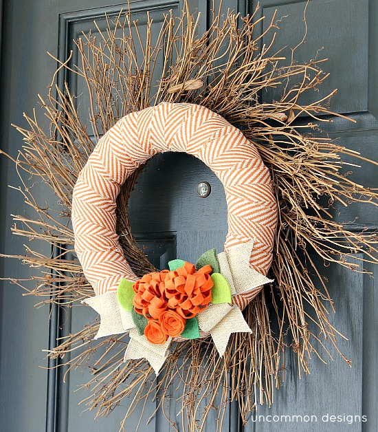 layered fall wreath