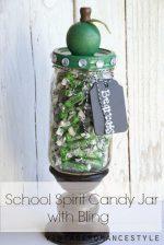 Teacher Gift Idea: School Spirit Candy Jar