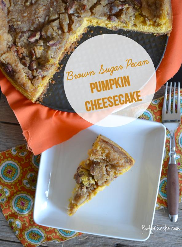 Brown Sugar Pecan Pumpkin Cheesecake