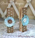 Large Burlap Clothespins using the Home+Made Line!!