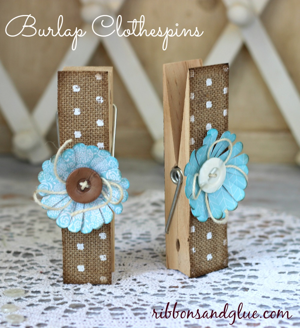 Large burlap clothespins using the home made line for Crafts made with burlap