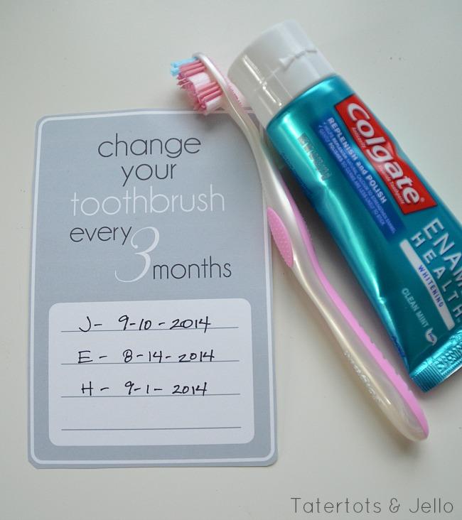 change your toothbrush printable