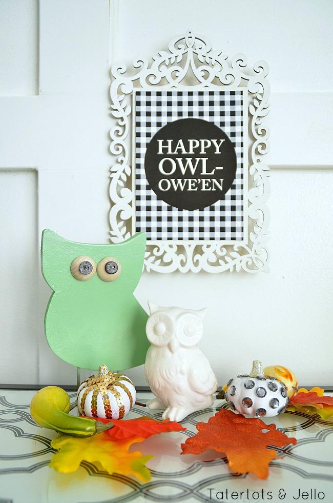 happy owleen printable and owl project