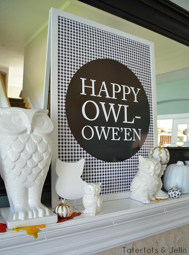happy owloween free printable at tatertots and jello