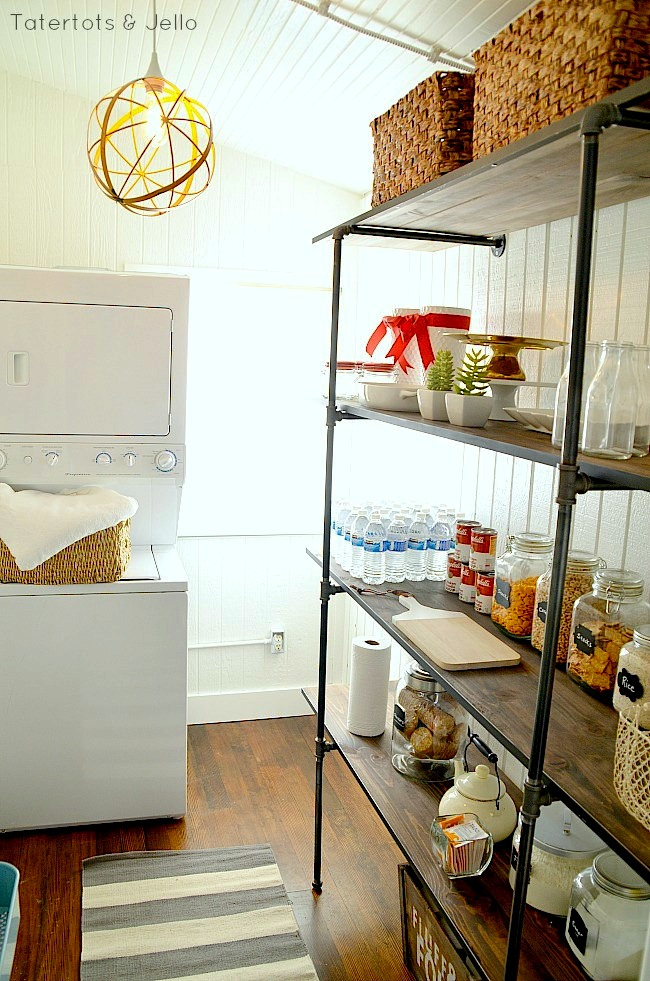 super easy industrial shelves DIY at tatertots and jello