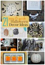 Great Ideas — 21 Easy & Quick Halloween Decor Ideas!