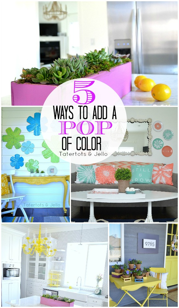 how to add color to a neutral living room 5 ways to bring a pop of color into your home tatertots 28323