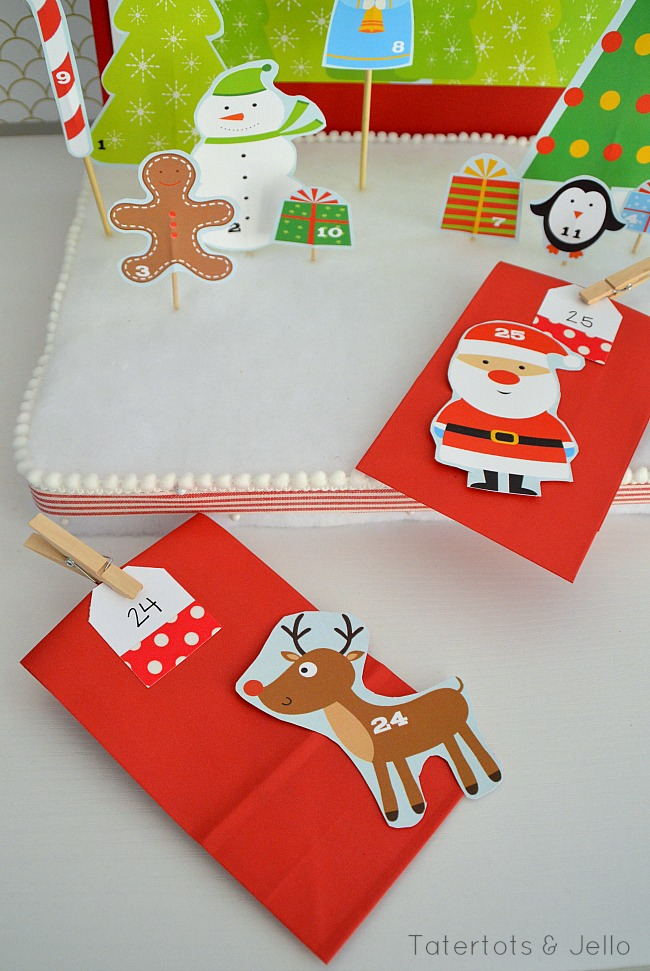 Interactive advent calendar and activities from tatertots and jello