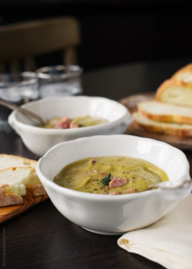 Split Pea Soup | www.kitchenconfidante.com