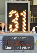 Halloween Foam Marquee Letters!