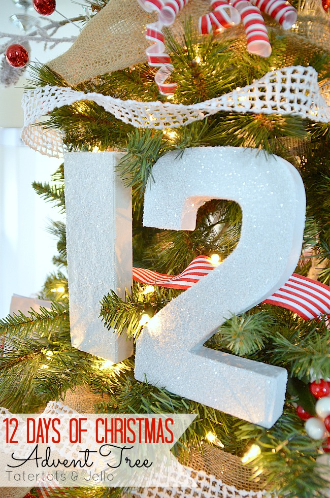 12 days of christmas advent tree tutorial at tatertots and jello