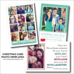 HAPPY Holidays: Free Christmas Card Photo Templates