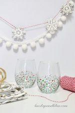 HAPPY Holidays: DIY Confetti Glasses