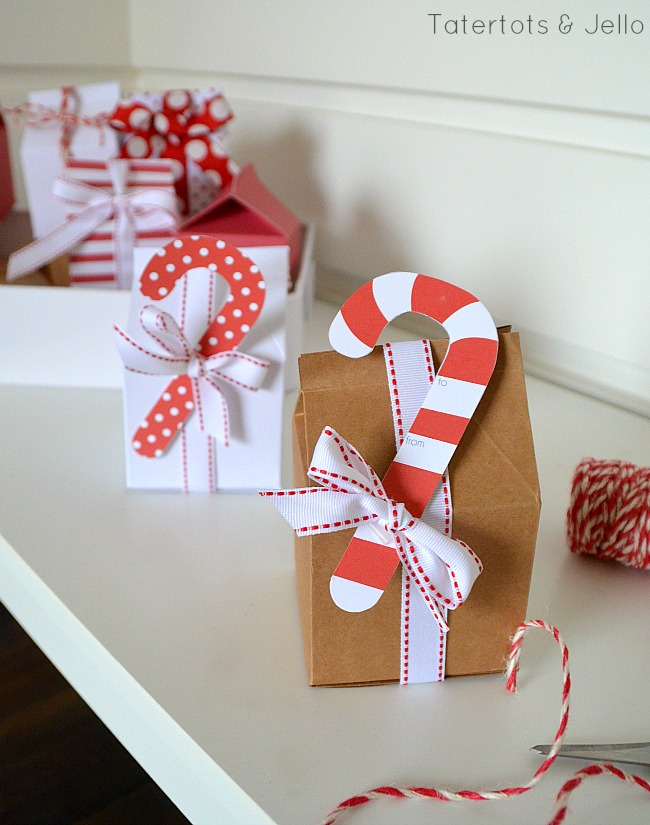 holiday candy cane printable gift tags at tatertots and jello