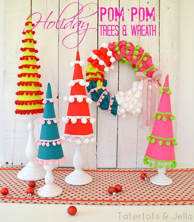 holiday-pom-pom-trees-and-wreath-at-tatertots-and-jello (1)