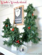 Winter Wonderland Evergreen Trees DIY!