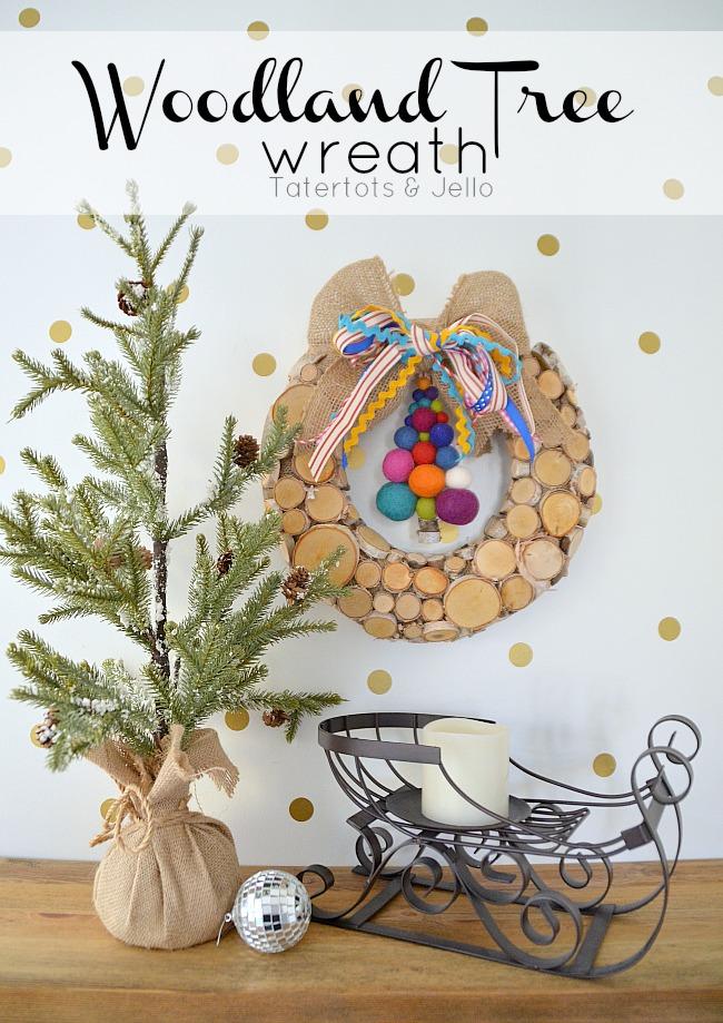 woodland tree wreath from tatertots and jello