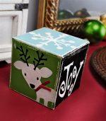 HAPPY Holidays: DIY Distressed Wood Christmas Block