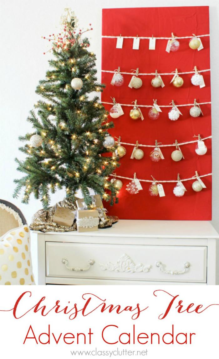Happy Holidays Christmas Tree Advent Calendar Tatertots