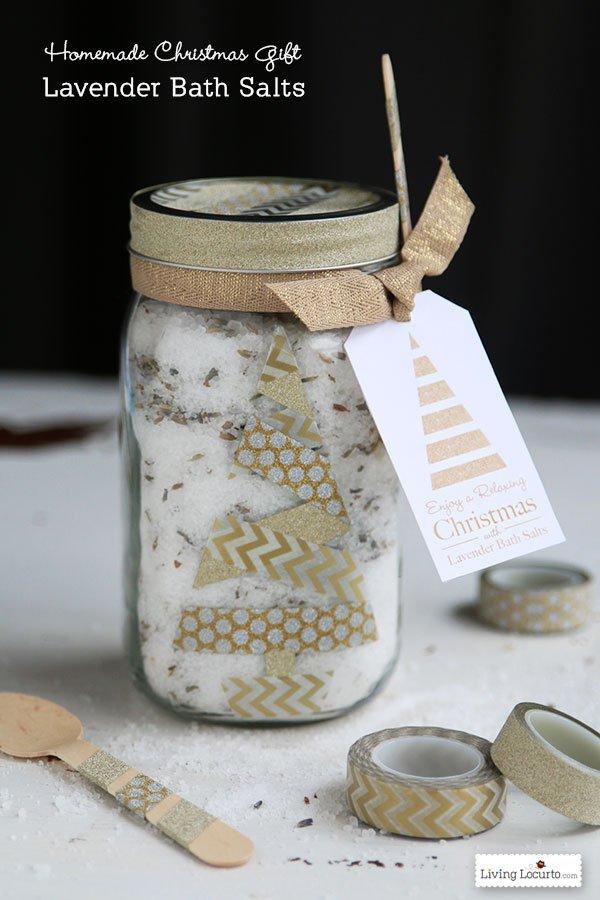 HAPPY Holidays Lavender Bath Salt Gift In A Jar
