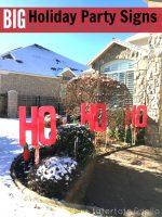 Holiday Party Yard Signs (Ho, Ho Ho!)