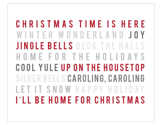 christmas-songs-canvas-8x10