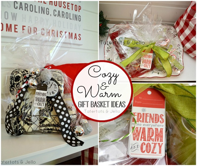 cozy and warm gift basket ideas at tatertots and jello