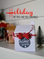 """Quick & Cute Neighbor """"House"""" Gift Boxes – and Free Printable Tags!"""