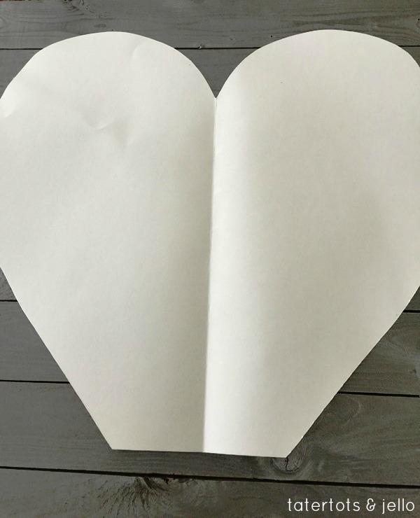 paper heart cutout