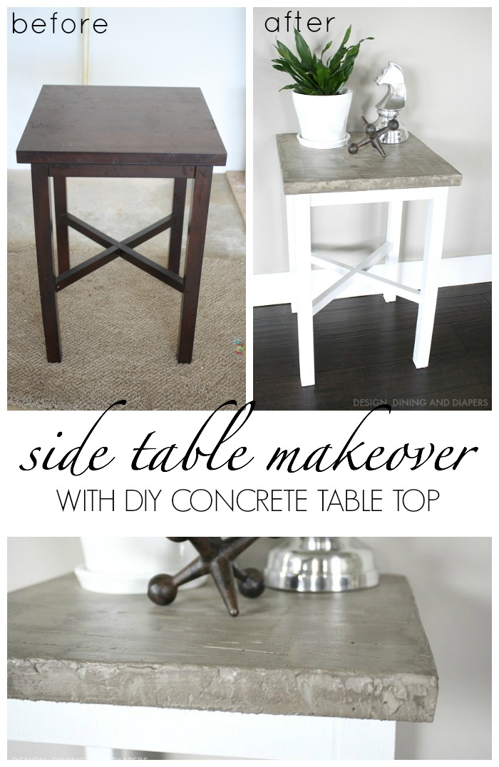 Side-Table-Makeover-using-chalky-paint-and-diy-concrete-table-top.-Get-all-the-details-on-the-blog-