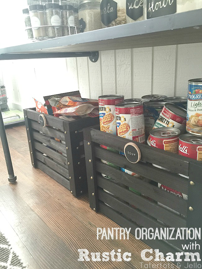 pantry organization with rustic charm at tatertots and jello