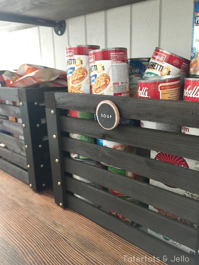 rustic pantry organization