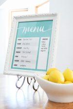 Free Printable Dry Erase Menu Board
