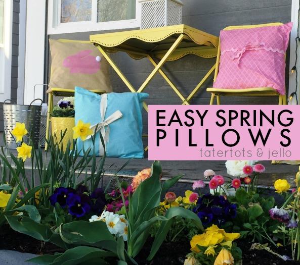 Easy Spring Bunny Pillows