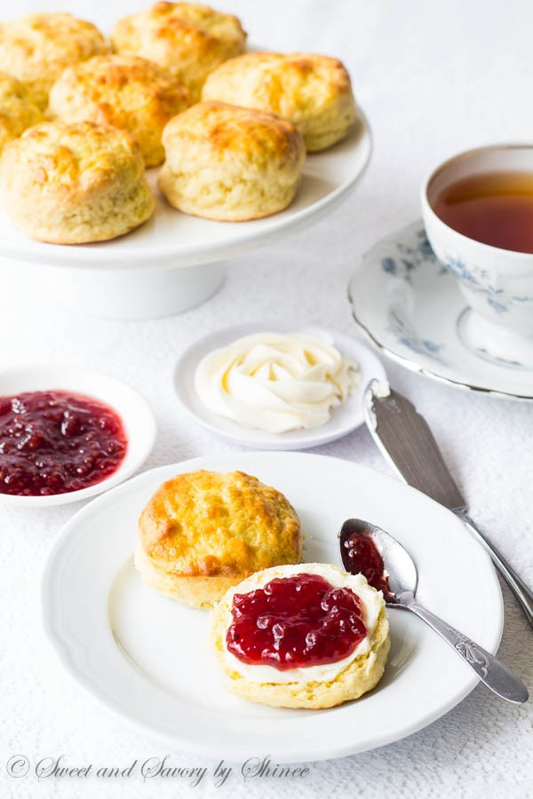 English Scones with Sweet whipped Butter