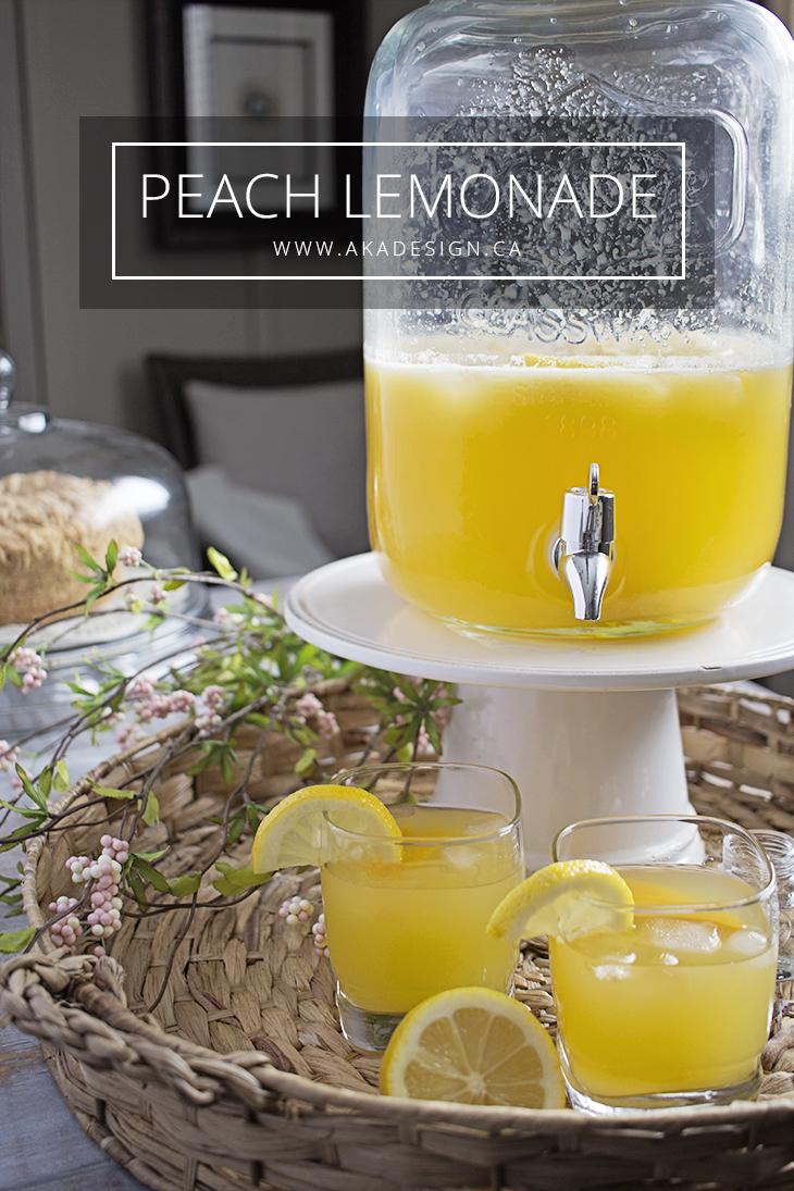 Peach Lemonade Recipe for Mother's Day