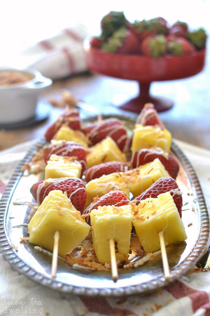 Strawberry Colada Kabobs