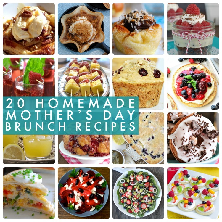 Great Ideas -- 20 Homemade Mother's Day Brunch Ideas