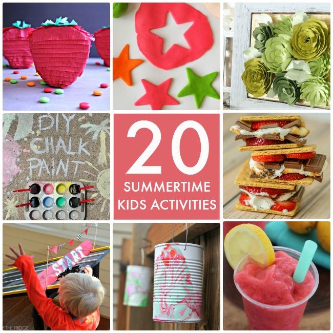 20 Summertime Kid Activities Collage
