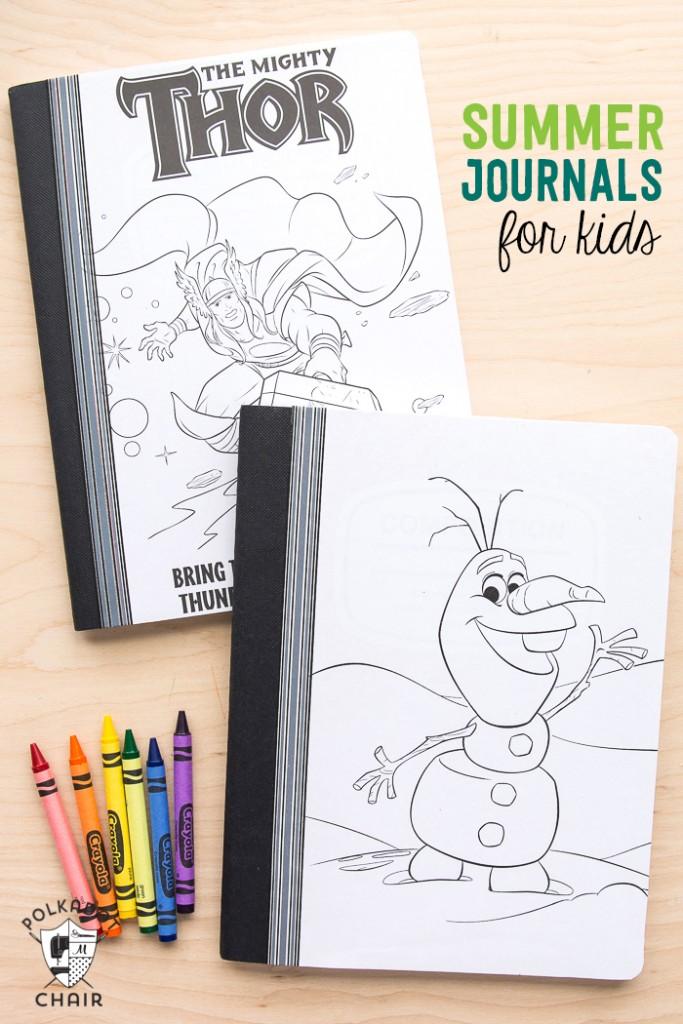 make-your-own-kids-summer-journals