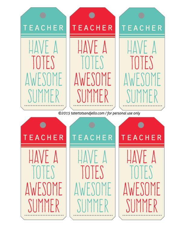 Teacher Appreciation Gift Idea - Summer Tote & Free