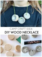 Camp Craft Idea: DIY Wood Necklace