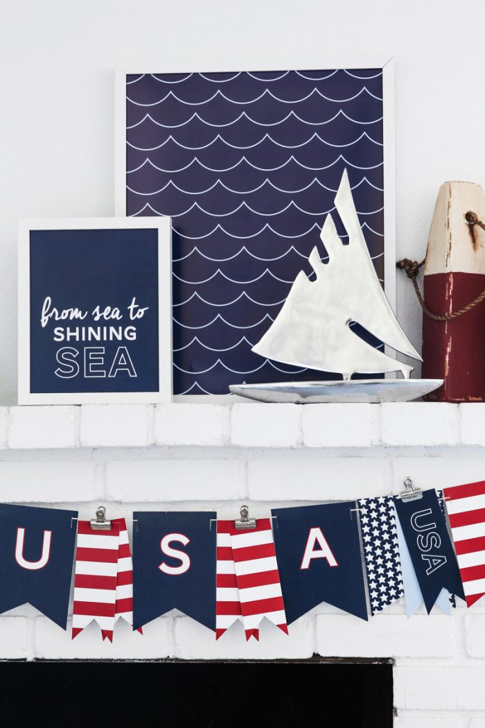 Free Patriotic 4th of July Nautical Prints