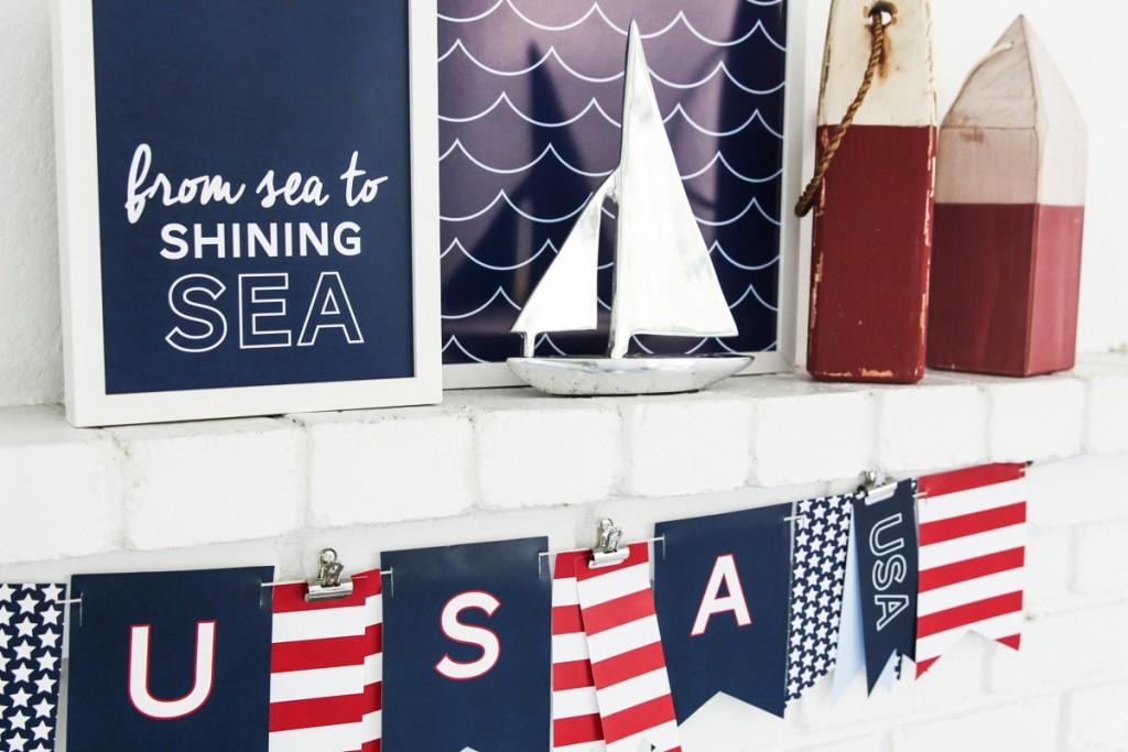 Sea-To-Shining-Sea-3 free patriotic printable banner and prints