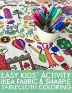 Easy Kids' Activity Idea — Tablecloth Coloring!